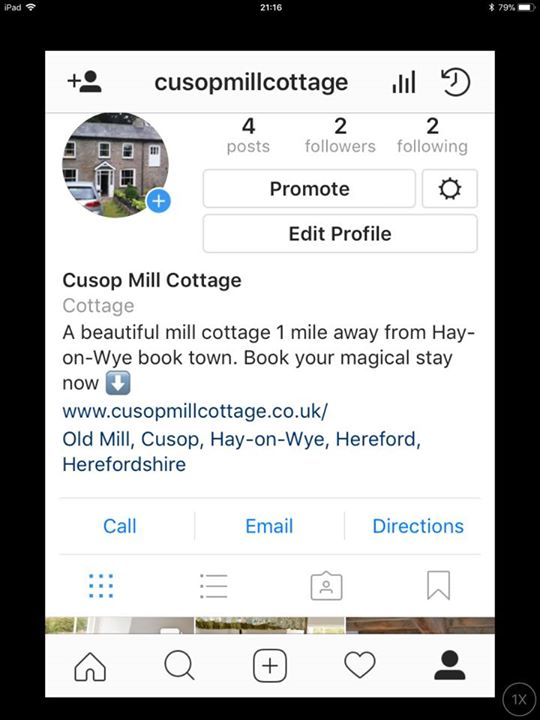 We are also on instagram, take a look at our page ? Follow us @cusopmillcottage